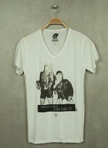 Boom-Bap-T-Shirt-Y-B-bb1-0458-White-V-Neck-NEW-ALL-SIZES