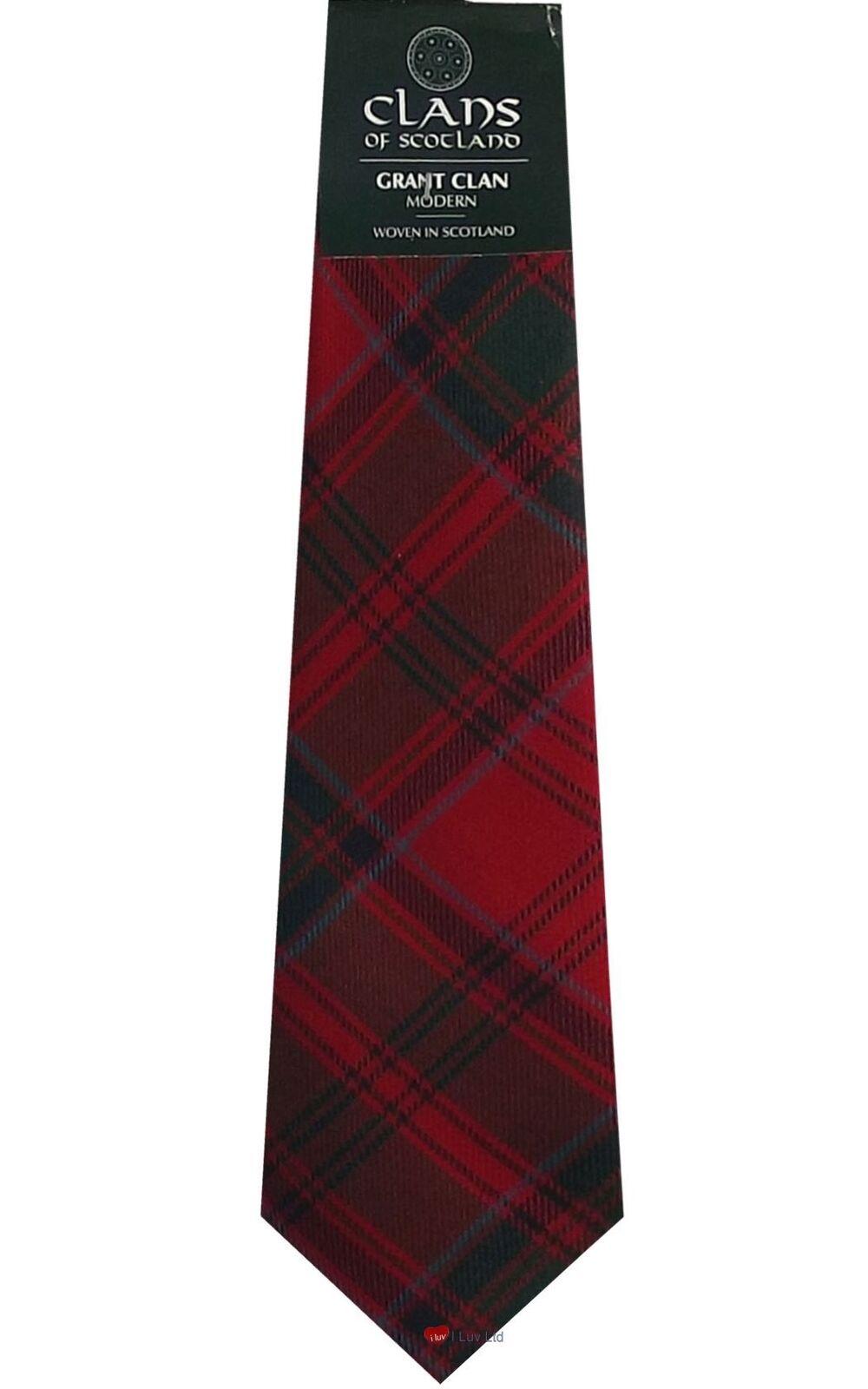 Grant | Materialien Erlesene Tie Tartan Mens Scottish Wool