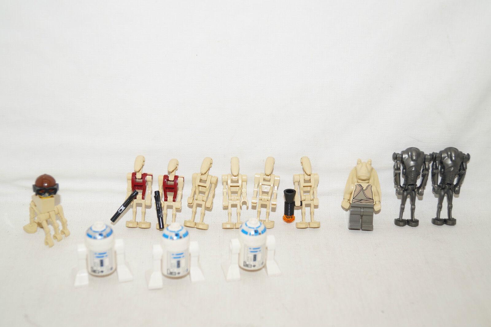 LEGO Star Wars 13 Figuren R2-D2 JAR JAR BINGS super Battel Droids und andere