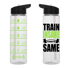 Water Tracker – Train Insane Or Stay The Remain Sports Water Bottle 24 Oz