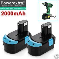 2x 2000mAh 18V NiCd Battery for HITACHI EB1812S EB1814SL EB1820 EB1824L EB1830HL