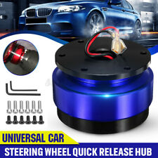 Universal Car Steering Wheel Ball Quick Release Hub Adapter Snap Off Kit Blue Us