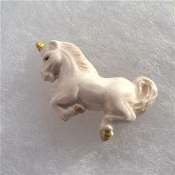 Peruvian Ceramic White Unicorn Pendant Focal Bead (1) Hand Painted