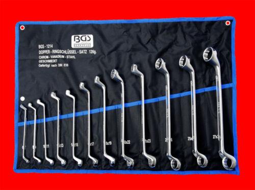 30 x 32mm Doppel Ringschlüssel Satz Ring Schraubenschlüssel SW 6 x 7mm 12-tlg