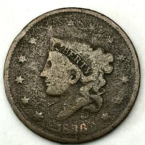 1836-Matron-or-Coronet-Head-Large-Cent-Coin-1c