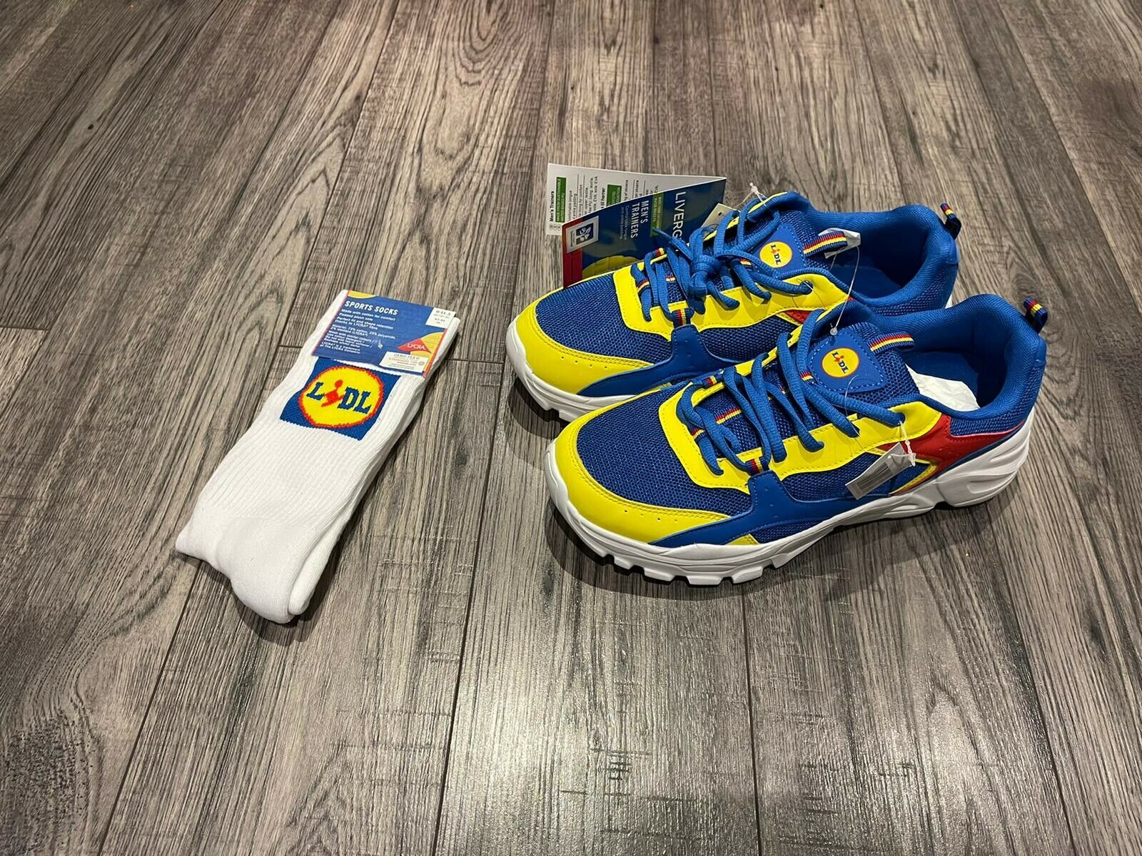 Lidl Men's Sneakers Shoes Trainers Size UK 8 Sock Bundle Rare* BNWT Novelty ✅✅