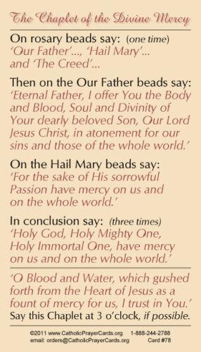 DINFNA Collana con carta di preghiera laminato più due schede preghiera GRATIS ST