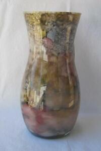 Italian Art Glass Vase Franco Italy Lavender  Blue No 446