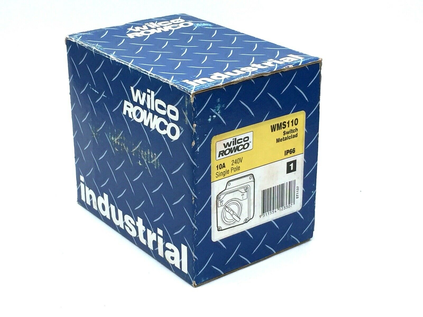 WILCO ROWCO WMS110 SWITCH METAL CLAD IP66 RATED 10A 240V SINGLE POLE WEATHER