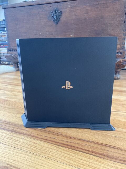 Sony PlayStation 4 Pro 1TB Jet Black Console with Stand & Game GREAT CONDITION