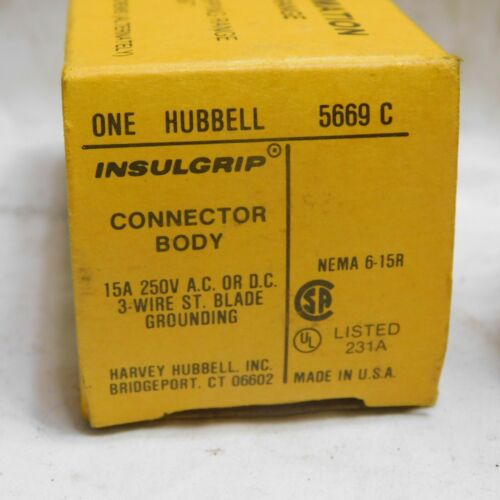 Hubbell 5669-C Insulgrip Connector Body