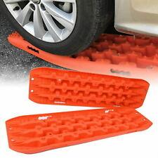 2 Pcs Recovery Traction Board For Mud Sand Snow Vehicle Extraction Orange