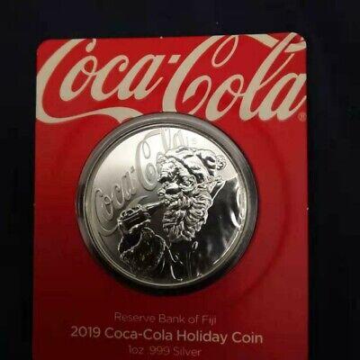 2019 W American Eagle Santa Silver Dollar Brilliant Uncirculated