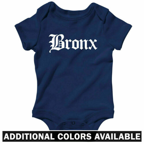 Bronx Gothic NYC One Piece Baby Shirt Infant Creeper Romper City NB to 24M