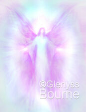 ARCHANGEL RADZIEL Spiritual Guardian Angel Art Painting by Glenyss Bourne