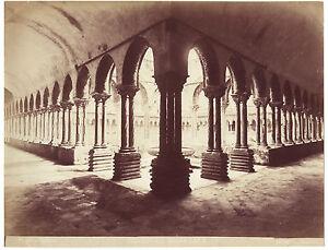 Italia Palermo Monreale Foto G.Incorporato Vintage Albume D'Uovo Ca 1880