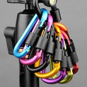 Blau-Schwarz-Rot-Gold-D-Typ-Silber-Aluminum-Alloy-Gewindemutter-Tor-Karabiner