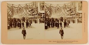 James Street Londra UK Foto Stereo PL55L6n Vintage Albumina 1897