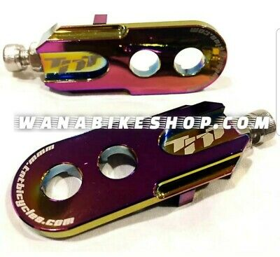 """w// 6mm adapter Red Pair TNT Bicycles 3//8/"""" BMX Chain Tensioners"""