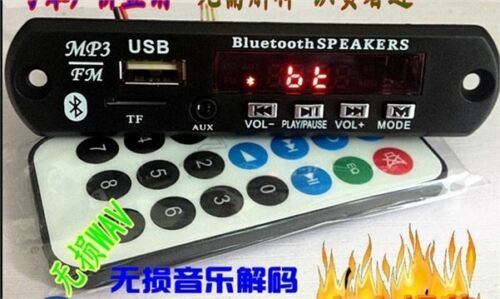 Für Auto Usb Tf Funk Drahtlose Bluetooth 12 V MP3 Wma Decoder Board Audio Mod ft