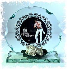 Freddie Mercury, Queen Photo Cut Glass Round Frame Plaque  Limited Edition  #4