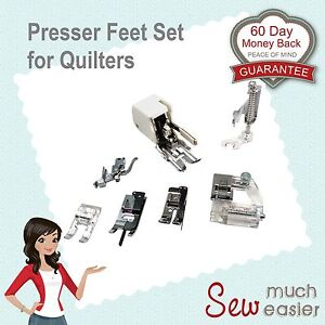 Sewing-Machine-Walking-Foot-Presser-Quilters-Feet-Set-Janome-Brother-Elna-Singer