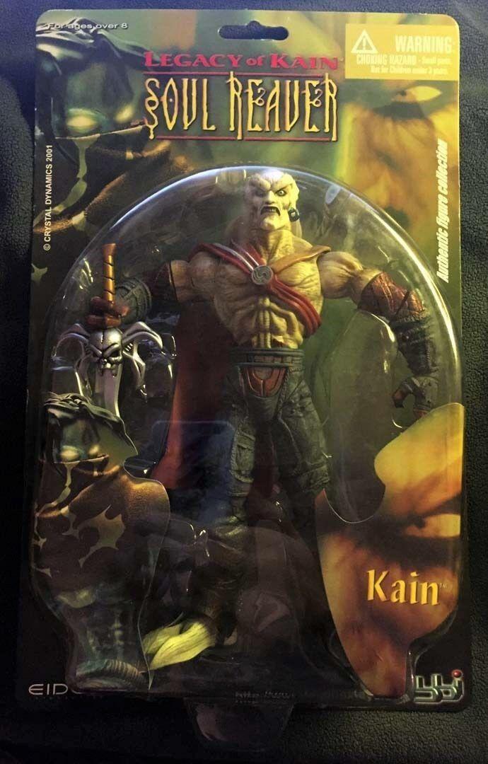 Legacy Of Kain Soul Reaver KAIN Blau Box BBI 2001 First Released Figure NEW RARE