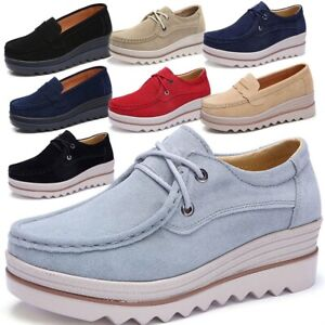 861a160e81c Women s Wedge Heel Sneakers Casual Sports Slip-on Platform Shoes ...