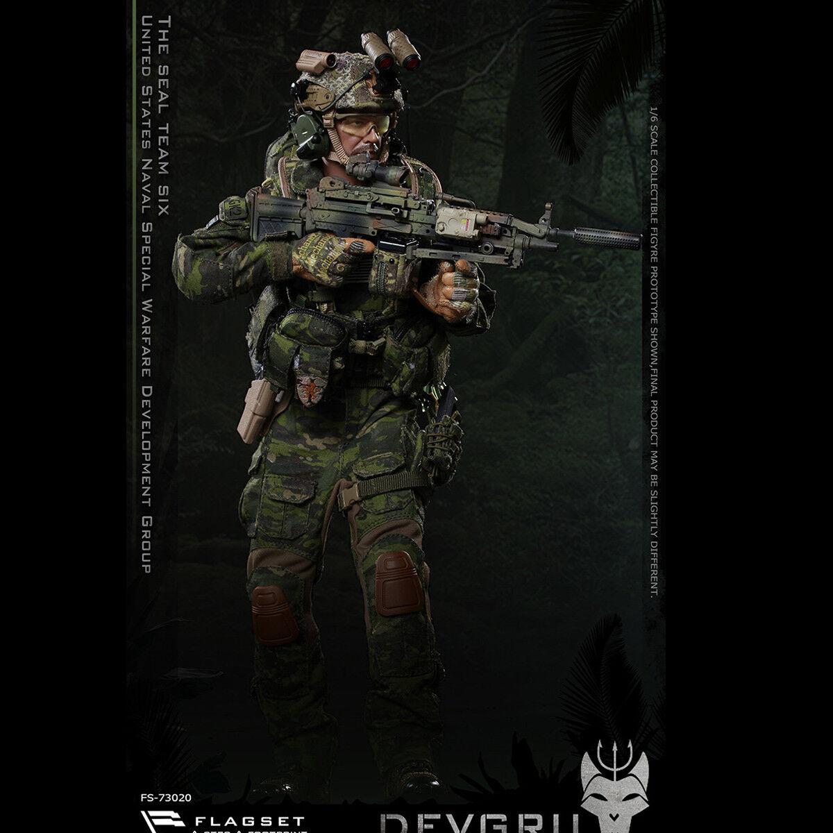 0a3865523b8 FLAGSET 73020 1 6 US Seals 6 Team DEVGRU Jungle Dagger Action Figure ...