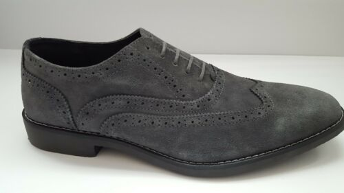 New Joseph Abboud Collection Gray Suede Oxfords