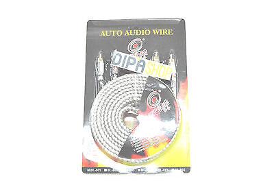 Aggressivo Cavo Doppia Schermatura Audio Per Impianti Stereo Per Auto 5mt Bl-861 Silver Hsb
