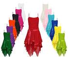 Women's Ladies Chiffon Asymmetric Lace Party Evening Prom Wedding Dress