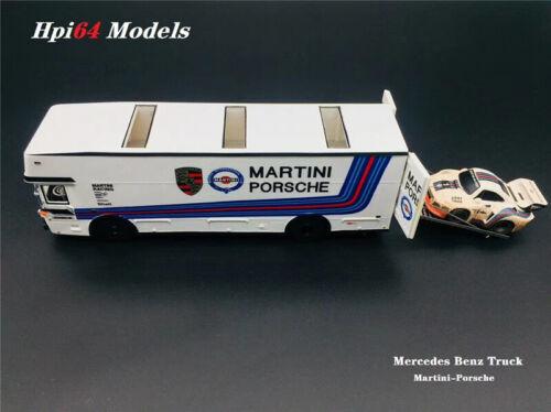 HPI64 Models Not include Q Car PreOrder 1//64 Martini Porsche Truck Car Carrier