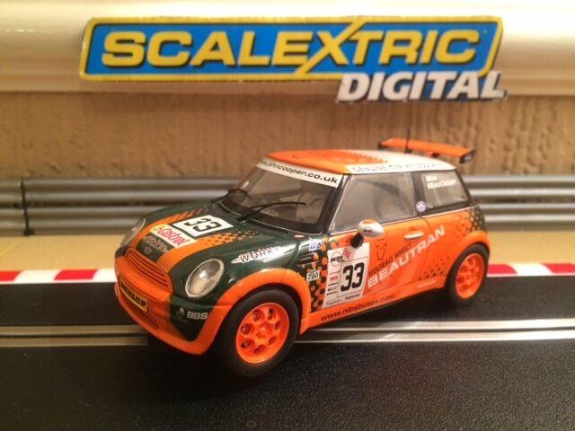 Scalextric Digital Mini Cooper beautran No33 C2732D condición prístina coche raro