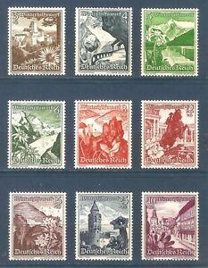 DR-Nazi-3d-Reich-Rare-WW2-Stamp-Gothic-Castles-Tower-Austria-Flowers-Landscape