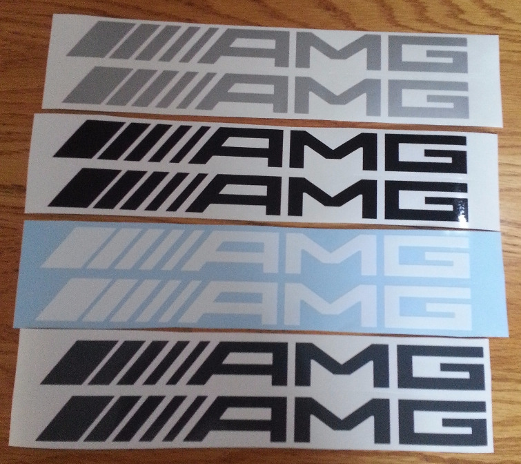 AMG mercedes decals stickers vinyl graphics
