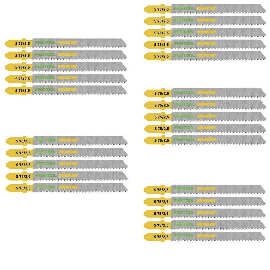 Festool Stichsägeblätter S 75   2,5   25 für PS 300 PSB 300 PS 400 PSC 400 uvm.