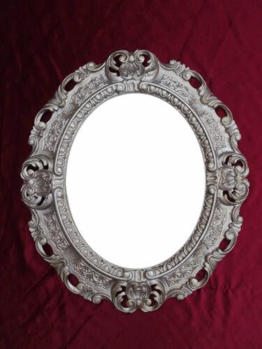 Wandspiegel Spiegel ALTSILBER OVAL 45 x 38 cm BAROCK Antik REPRO Vintage 345 26*