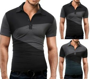 Fashion-Tee-Mens-Stylish-Casual-T-Shirts-Slim-Fit-Short-Sleeve-POLO-Shirt-Tops