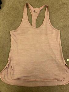Z by Zella tank top size large pink purple yoga athletic workout