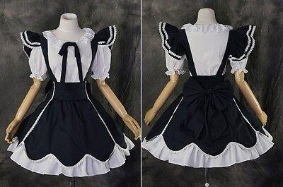 M-3237 weiß dunkelblau white Lolita Kleid dress Cosplay Kostüm costume nach Maß
