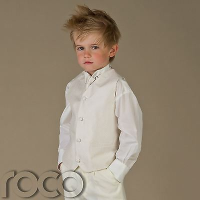 Baby Boys Ivory Waistcoat Suit Wedding Pageboy Christening Communion Suits