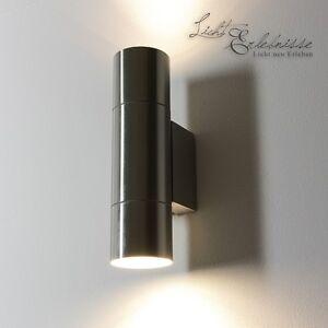 Edelstahl-Wand-Aussenleuchte-up-amp-down-2-910-Wandleuchte-IP44-Aussenlampe-Lampe