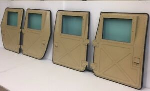 Image is loading NEW-TAN-MILITARY-HUMVEE-X-DOORS-SET-OF- & NEW TAN MILITARY HUMVEE X-DOORS - SET OF 4 - HMMWV M998 H1 HUMMER ...