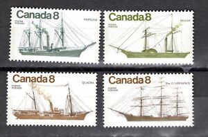 CANADA - SHIPS -  670-3 SET OF 4 FMNH - 1975