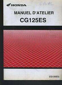 (21) REVUE TECHNIQUE MANUEL ATELIER MOTO HONDA CG125ES
