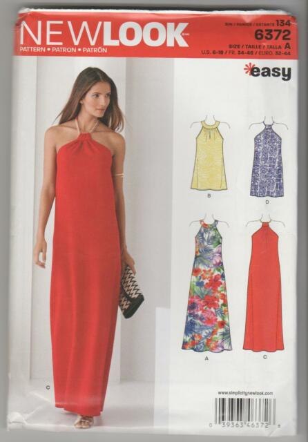 LOOK Sewing Pattern 0801 / 6372 Miss Halter Neck Maxi Cocktail Dress ...