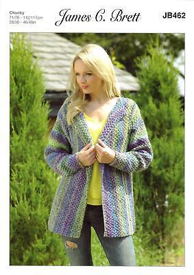 James C brett Chunky Knitting Pattern Sweater JB497