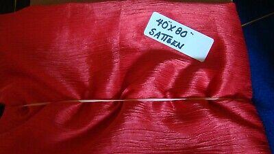 Yard 60/% Silk 40/% Cotton SATIN SATEEN Fabric Wine Burgundy RED 1