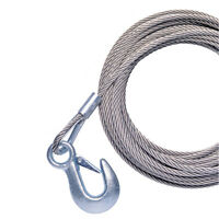 Powerwinch Cable 20' X 7/32 W/hook Galvanized